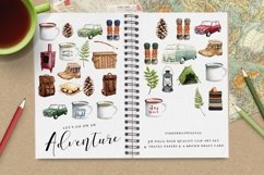 Camping Adventure Clipart and Papers Product Image 4