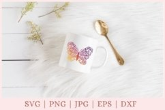 Floral Butterfly SVG, Butterfly and Flowers SVG, wildflower Product Image 2