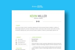 Personal Trainer Resume Template | Cover Letter | Reference Product Image 1