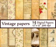 Vintage Digital Paper Product Image 1