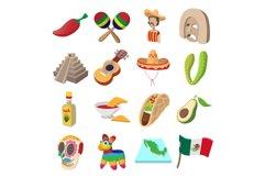 Mexico icons cartoon Product Image 1