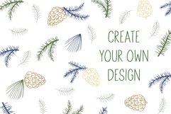 Pine cone, pine branches SVG Files Product Image 6