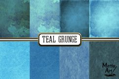 Teal Grunge - 16 Digital Papers/Backgrounds Product Image 3
