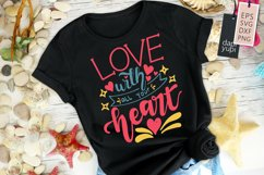 Love With All Your Heart Motivational Quotes Product Image 2