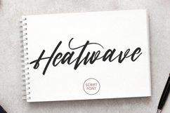 Heatwave Script Brush Handmade Modern Font Product Image 1