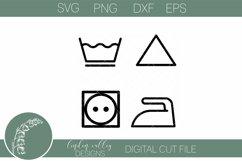 Laundry Symbols SVG|Farmhouse Laundry Room Sign SVG Product Image 2