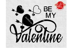 BE MY Valentine JPEG, PNG, SVG, DXF, EPS Product Image 1