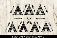 Teepees and Arrows Svg Bundle. Teepee SVG, Boho Arrows SVG. Product Image 2