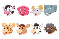 Set of Sixteen Cute Head Animals Bundle Product Image 3