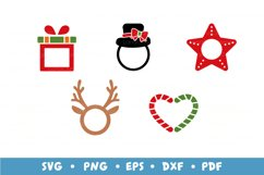 20 Christmas Frames Bundle, Monogram Frames SVG Cut Files Product Image 4