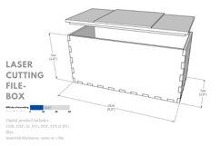 Box- laser cutting file Product Image 2