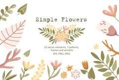 Simple Flowers - Vector Clip Art Set Product Image 1