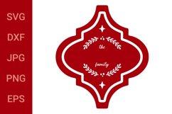 Arabesque Tile Design   Family Name Christmas Ornament SVG Product Image 2