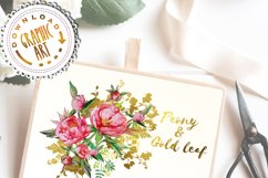 Peony and Gold leaf Product Image 8