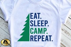 Camping SVG PNG EPS DXF Eat Sleep Camp Repeat SVG Camper SVG Product Image 3