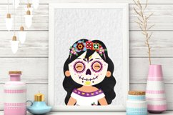 Day of the Dead clipart - Sugar Skull - Dia de los muertos Product Image 2