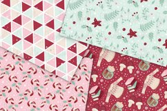 Cozy Christmas Digital Papers Product Image 5