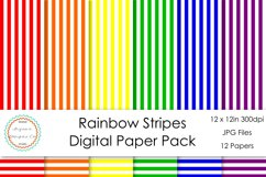 Rainbow Stripes Digital Paper Pack Product Image 1