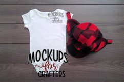 White one-piece baby outfit, onesie, MOCK-UP Product Image 1