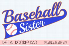 Baseball SVG Sister| Silhouette and Cricut Cut File Product Image 1