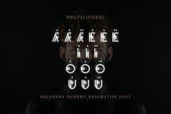 Maladewa - Decorative Font DR Product Image 5