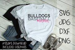 Bulldogs Baseball Mama, A Baseball SVG Product Image 1
