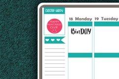 Bin Day Script Words Planner Stickers- BIn Day Stickers Product Image 2