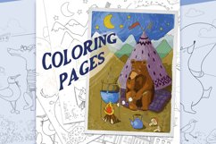 Coloring pages with funny animals, journeys and summer stuff Product Image 1