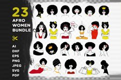 23 Afro Woman Svg Bundle - Afro Girl - Afro Queen Svg Product Image 2