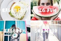 Summer Day Typeface with Clipart! Product Image 2