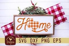 Texas Buffalo Plaid State Home Script Christmas SVG Product Image 1