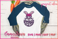BETTY THE EASTER BUNNY SVG, 2 MANDALA / ZENTANGLE DESIGNS Product Image 4