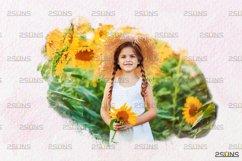 Watercolor portrait paint masks, photo frame, Photoshop Product Image 6