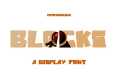 Blocks - Display Font Product Image 1