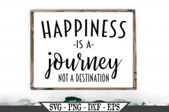 Happiness Is A Journey Not A Destination SVG Product Image 1