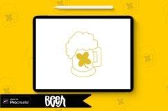 Beer Procreate Stamp Brush / St. Patricks Day St Product Image 1