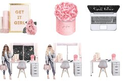 Girl Boss Clipart - Planner Fashion Clipart - Business Woman Product Image 9