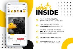 Black and yellow Instagram Puzzle Preset for Canva Product Image 3