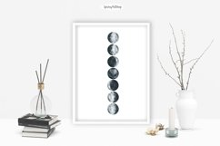 Moon Phases and ConstellatiDigital art High quality clipart Product Image 5