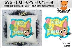 Peeking Easter Bunny SVG Product Image 1