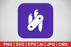 Vector Swiss Army Knife Icon Product Image 1