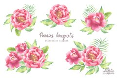 Watercolor Peonies set Product Image 4