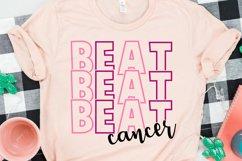 Beat Cancer Svg, digital download, Breast Cancer design Product Image 1
