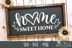 Home Sweet Home - Cut File - SVG, DXF & PNG Product Image 1