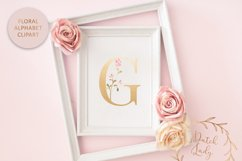 Floral Alphabet & Number Clipart Set #1 Product Image 3