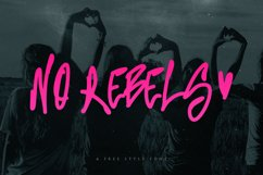 No Rebels Freestyle Font Product Image 1