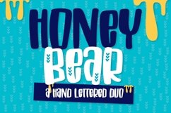 Honey Bear - A Hand Lettered Duo Product Image 1