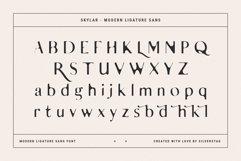 skylar - modern ligature sans font Product Image 4