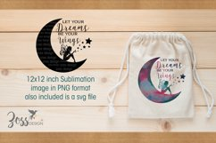 Crescent Moon and Fairy Let your Dreams be your Wings svg Product Image 3