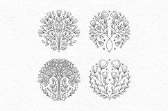 Floral digital stamps | Vintage flower clipart Product Image 5